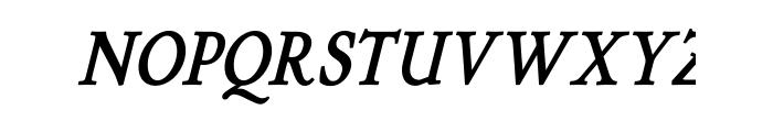 P22 Stickley Text Bold Italic OT Font UPPERCASE
