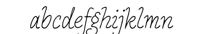 PApierSans-Italic Font LOWERCASE
