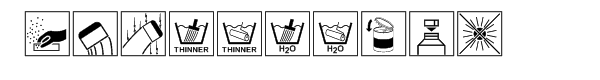 Paint industry symbols Font OTHER CHARS