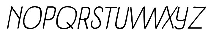 Panforte Condensed Light Italic Font UPPERCASE