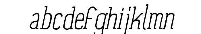Panforte Serif Light Italic Font LOWERCASE