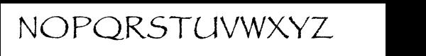 Papyrus™ Com Regular Font UPPERCASE