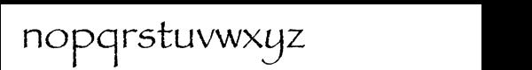 Papyrus™ Com Regular Font LOWERCASE