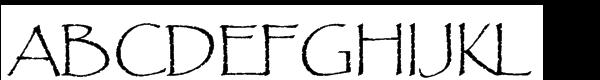 Papyrus® Std Regular Font UPPERCASE