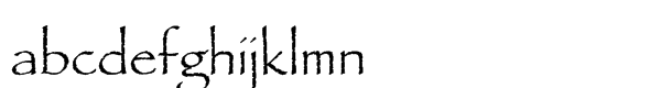 Papyrus® Std Regular Font LOWERCASE