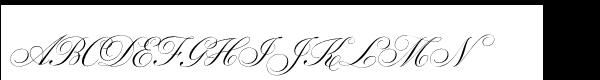 Parfumerie Script Std Old Style Font UPPERCASE
