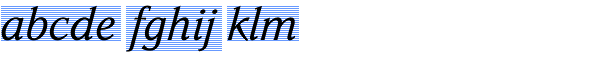 Parkinson Italic Font LOWERCASE