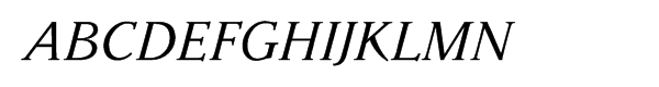 Parkinson Italic Font UPPERCASE