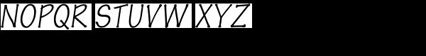 Pen Tip DT Infant Thin Oblique Font UPPERCASE