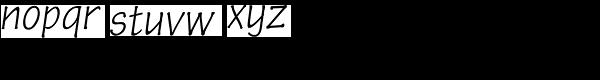Pen Tip DT Infant Thin Oblique Font LOWERCASE