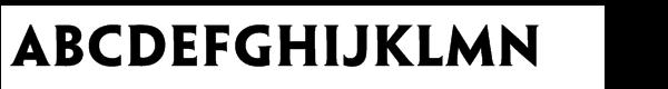 Penumbra™ Half Serif Std Bold Font UPPERCASE