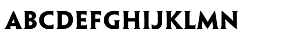 Penumbra™ Half Serif Std Bold Font LOWERCASE