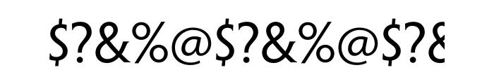 Penumbra Half Serif Std Font OTHER CHARS