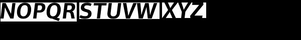PF Centro Sans Pro Bold Italic Font UPPERCASE