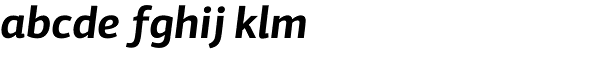 PF Centro Sans Pro Bold Italic Font LOWERCASE
