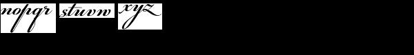PF Champion Script Pro Bold Font LOWERCASE