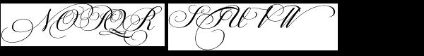 PF Champion Script Pro Regular Font UPPERCASE