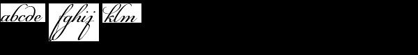 PF Champion Script Pro Regular Font LOWERCASE
