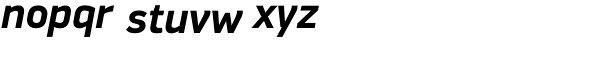 PF Din Display Pro Bold Italic Font LOWERCASE