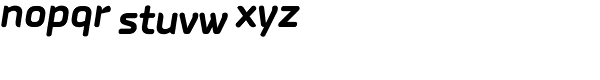 PF Isotext Pro Bold Italic Font LOWERCASE