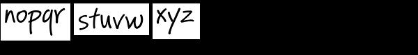 PF Reminder Pro Regular Font LOWERCASE