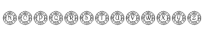 pf_wreath Font UPPERCASE