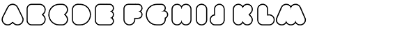 Phatron Outline Font UPPERCASE