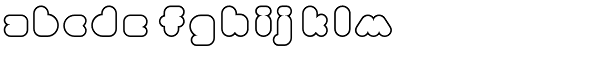 Phatron Outline Font LOWERCASE