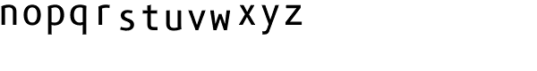 Phoenica Std Mono 900 Font LOWERCASE