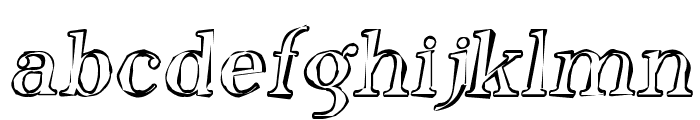 Phosphorus Oxide Font LOWERCASE