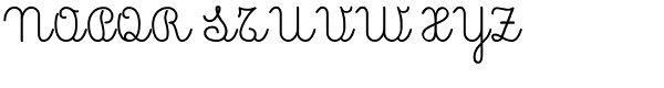Pinocchio Scribe Regular Font UPPERCASE