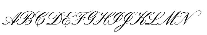 Pinyon Script Font UPPERCASE