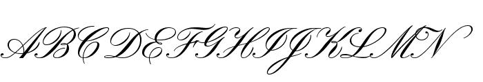PinyonScript Font UPPERCASE