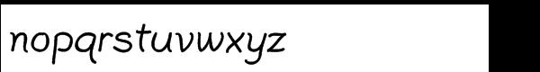 Plain Pensle Std Bold Font LOWERCASE