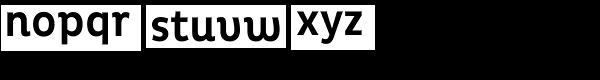Pluto Condensed Medium Font LOWERCASE