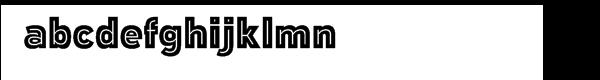 Polarband Regular Font LOWERCASE