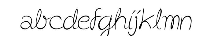 Post-it Penscript Font LOWERCASE