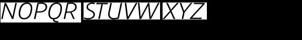 Precious Sans Book Italic Font UPPERCASE