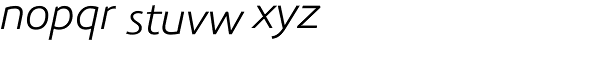 Precious Sans Book Italic Font LOWERCASE