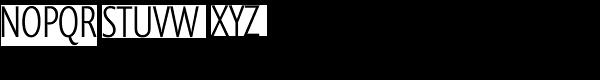 Prenton RP Cond Light Font UPPERCASE