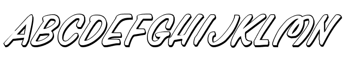 Press Darling Shadow Italic Font UPPERCASE
