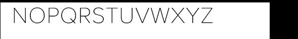 Proxima Nova Alt Thin Font UPPERCASE