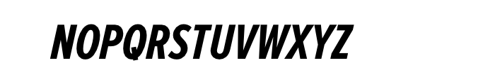 Proxima Nova Extra Condensed Bold Italic Font UPPERCASE