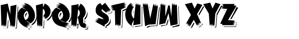 Psychobilly Shadow Font UPPERCASE
