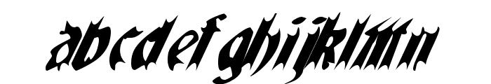 QuaelGothicItalics Font LOWERCASE