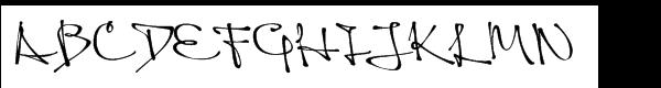 Queen Std Regular Font UPPERCASE