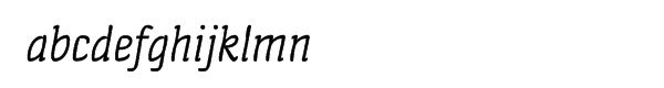 Quench™ Pro Italic Font LOWERCASE