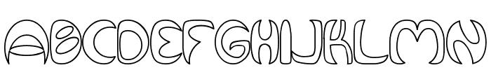 Qurve Hollow Font UPPERCASE