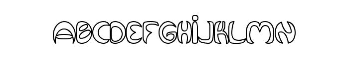 Qurve Hollow Font LOWERCASE