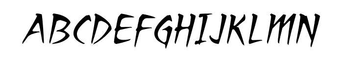 RagingRedLotusBB-Italic Font UPPERCASE